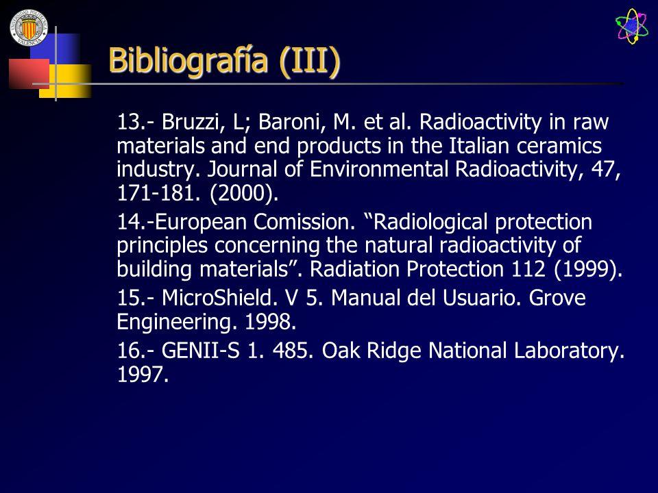 Bibliografía (III)