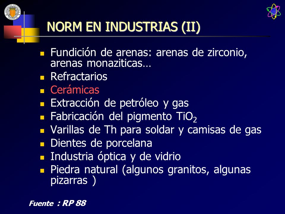 NORM EN INDUSTRIAS (II)