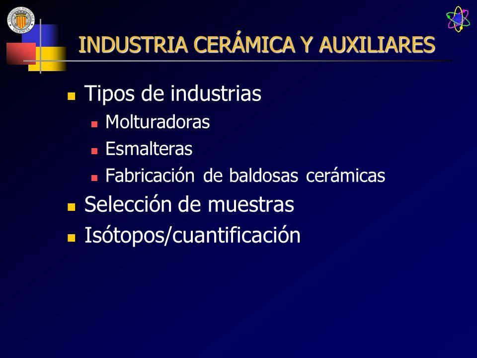 INDUSTRIA CERÁMICA Y AUXILIARES