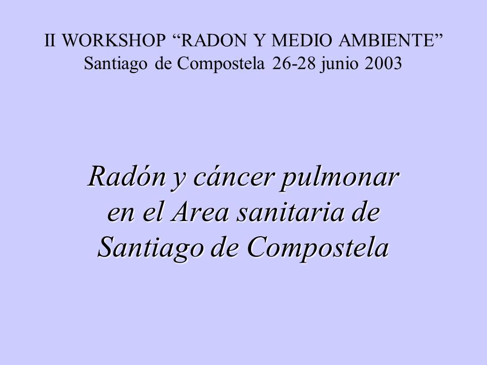 Radón y cáncer pulmonar en el Area sanitaria de Santiago de Compostela