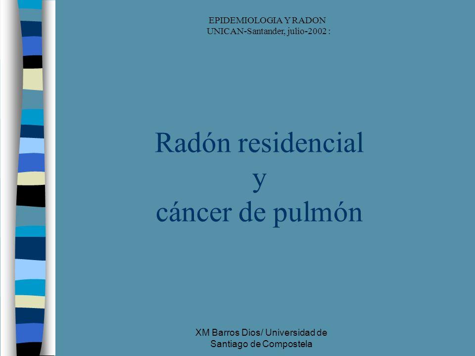 Radón residencial y cáncer de pulmón