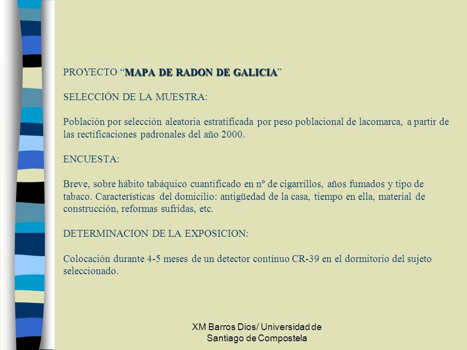 XM Barros Dios/ Universidad de Santiago de Compostela