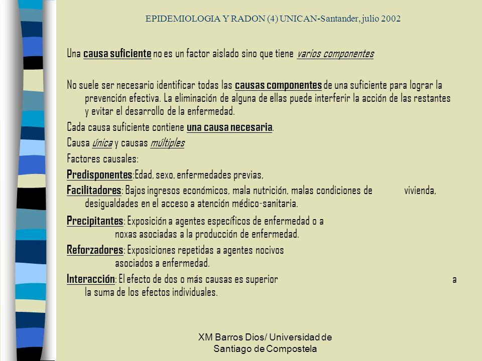 EPIDEMIOLOGIA Y RADON (4) UNICAN-Santander, julio 2002