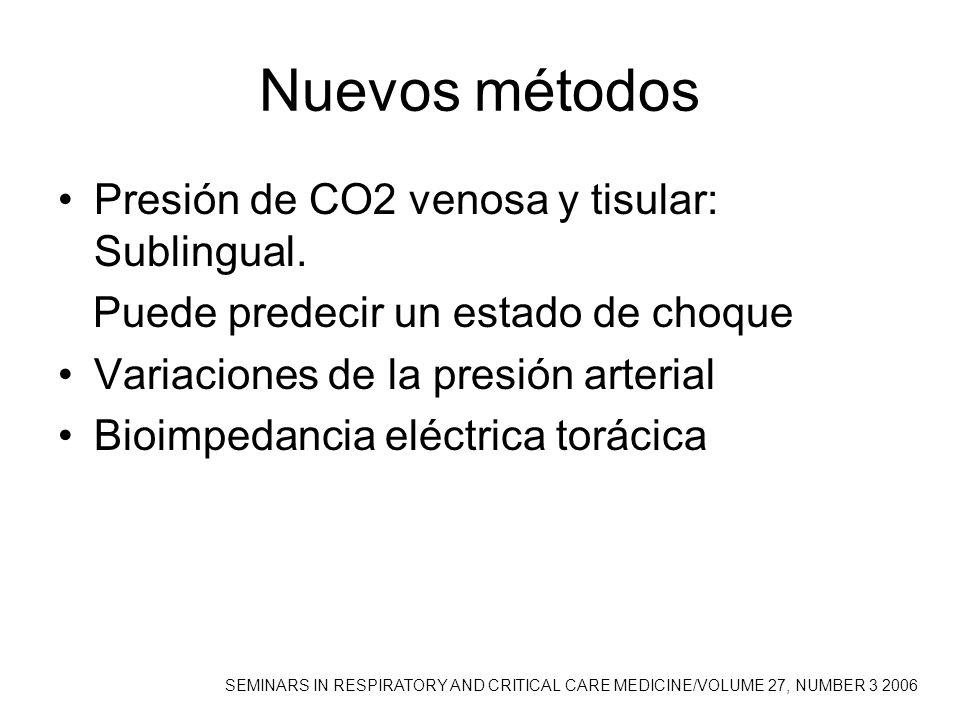 Nuevos métodos Presión de CO2 venosa y tisular: Sublingual.