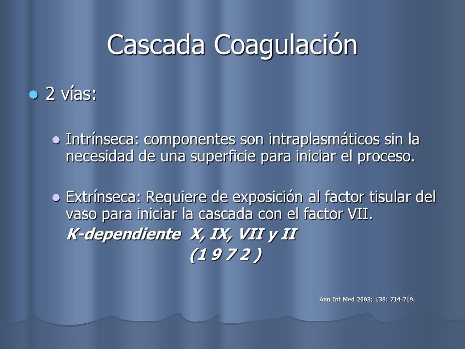 Cascada Coagulación 2 vías: