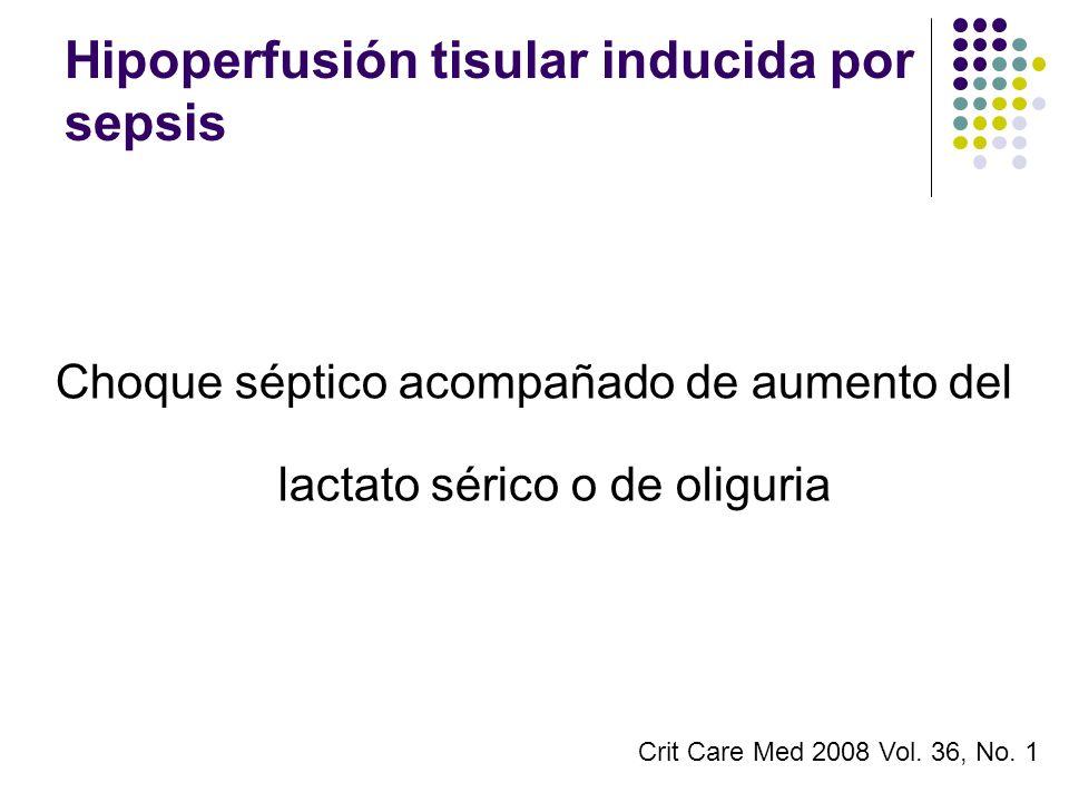 Hipoperfusión tisular inducida por sepsis