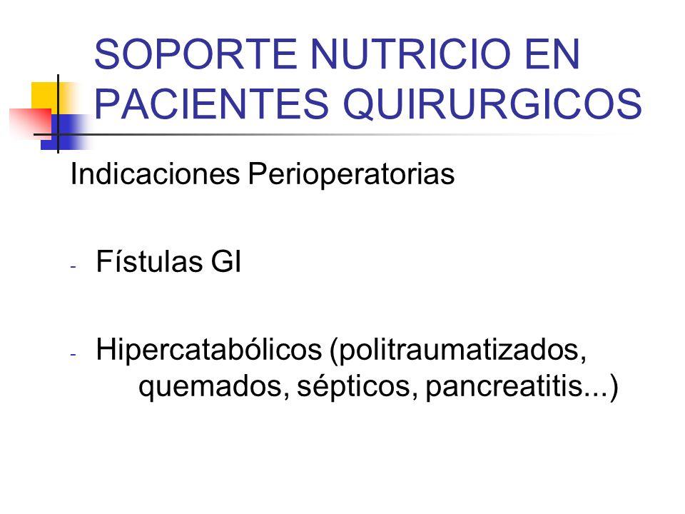 SOPORTE NUTRICIO EN PACIENTES QUIRURGICOS