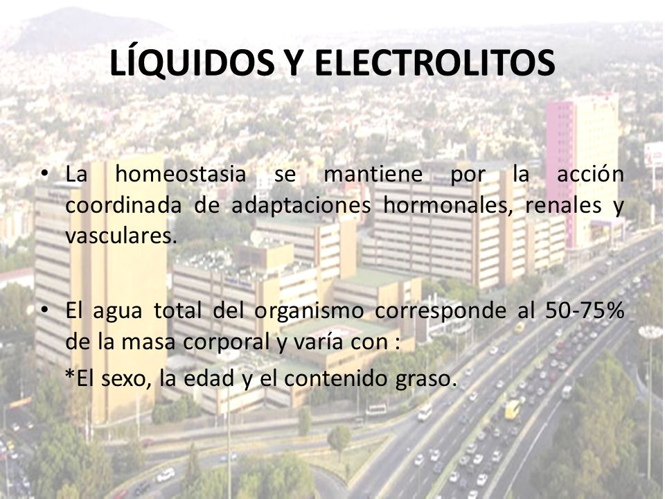 LÍQUIDOS Y ELECTROLITOS