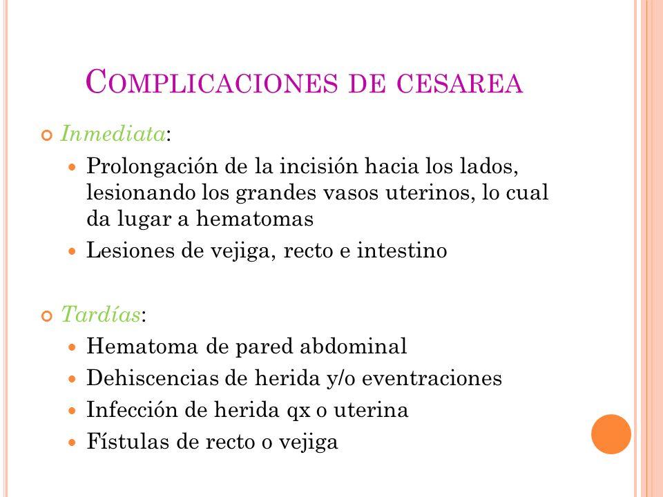 Complicaciones de cesarea