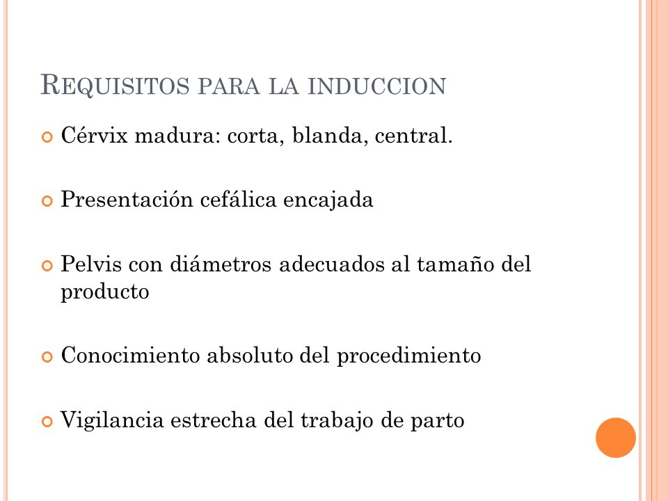 Requisitos para la induccion