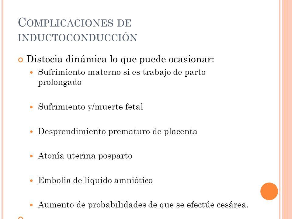 Complicaciones de inductoconducción