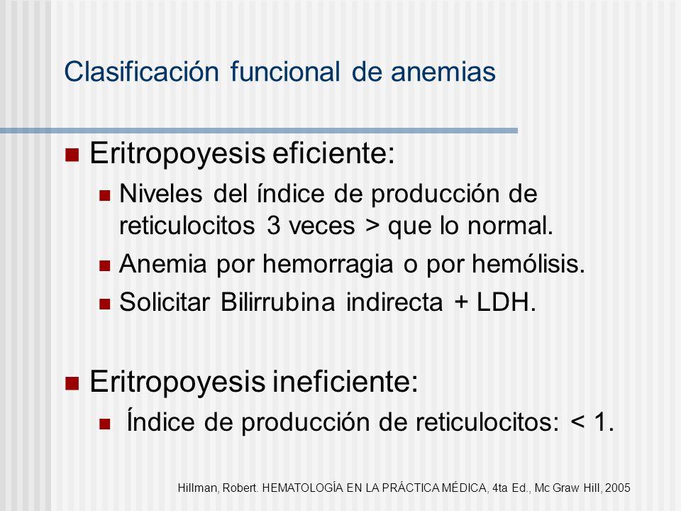 Clasificación funcional de anemias