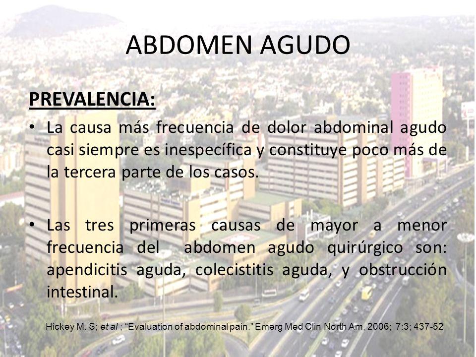 ABDOMEN AGUDO PREVALENCIA: