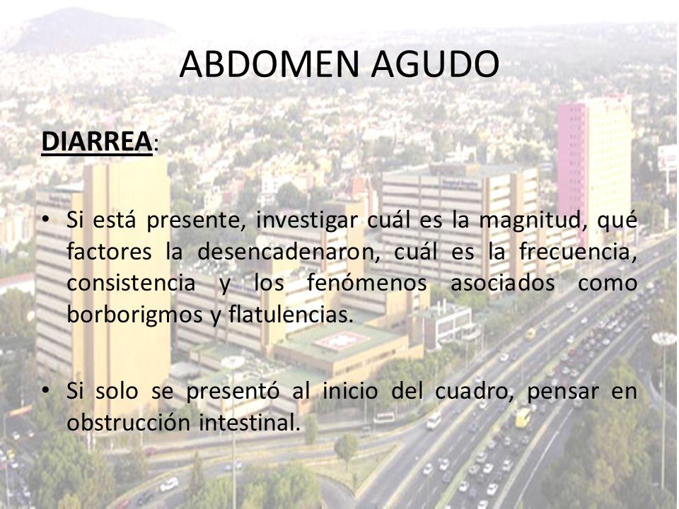 ABDOMEN AGUDO DIARREA: