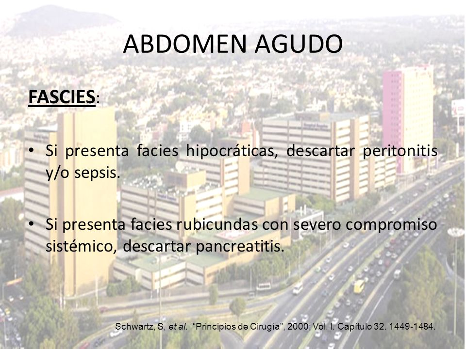 ABDOMEN AGUDO FASCIES: