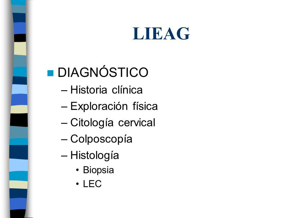 LIEAG DIAGNÓSTICO Historia clínica Exploración física
