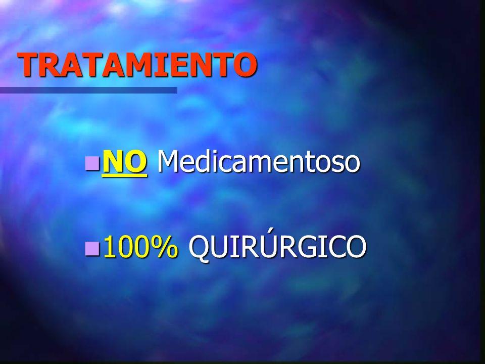 TRATAMIENTO NO Medicamentoso 100% QUIRÚRGICO