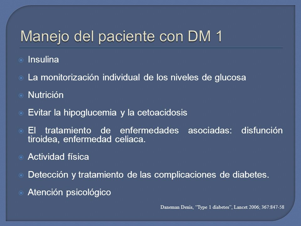 Manejo del paciente con DM 1