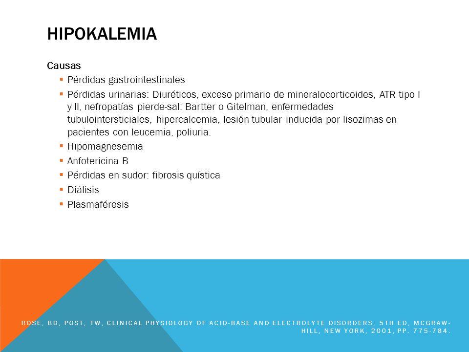 hipokalemia Causas Pérdidas gastrointestinales