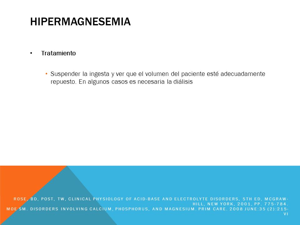 hipermagnesemia Tratamiento
