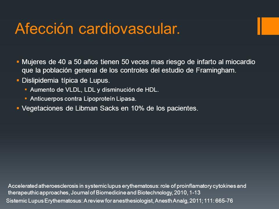 Afección cardiovascular.