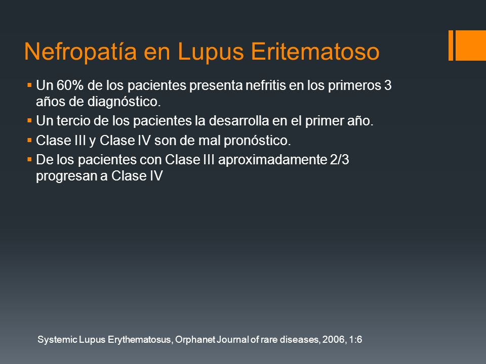 Nefropatía en Lupus Eritematoso