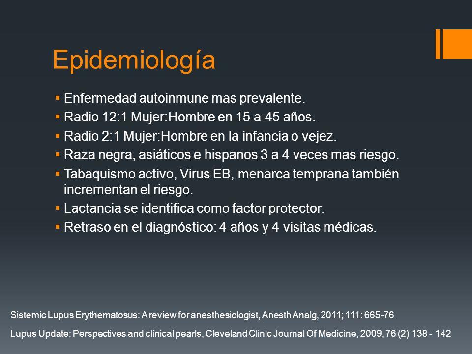 Epidemiología Enfermedad autoinmune mas prevalente.