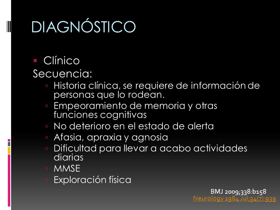 DIAGNÓSTICO Clínico Secuencia: