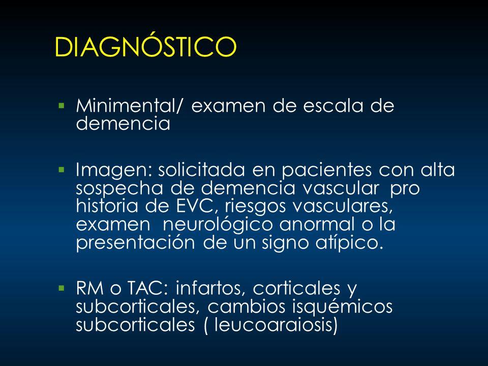 DIAGNÓSTICO Minimental/ examen de escala de demencia