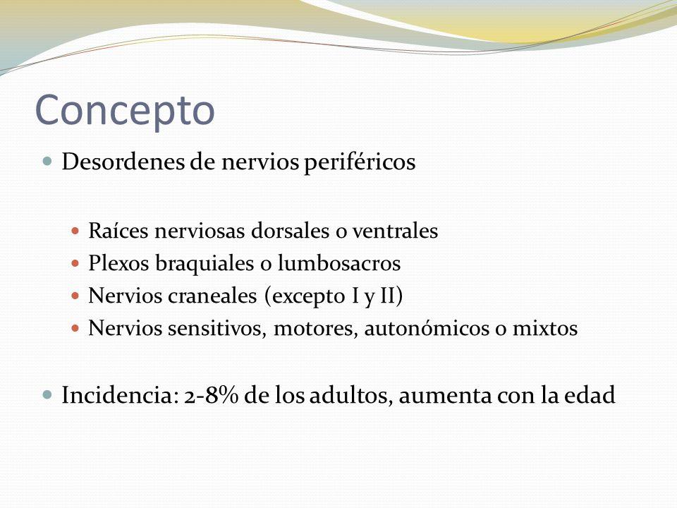 Concepto Desordenes de nervios periféricos
