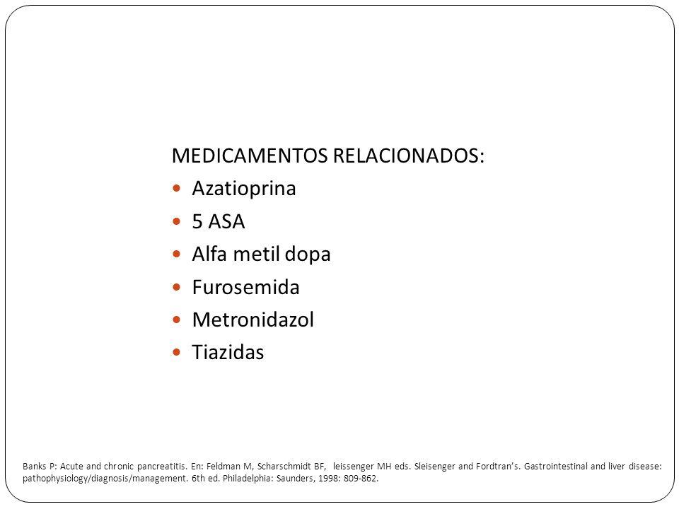 MEDICAMENTOS RELACIONADOS: Azatioprina 5 ASA Alfa metil dopa