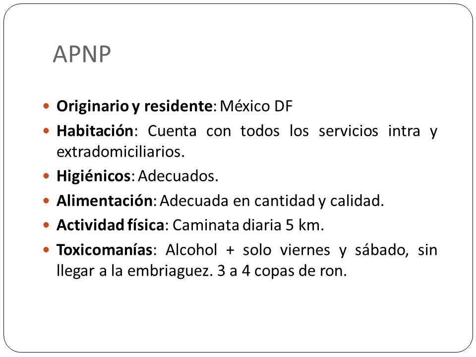 APNP Originario y residente: México DF
