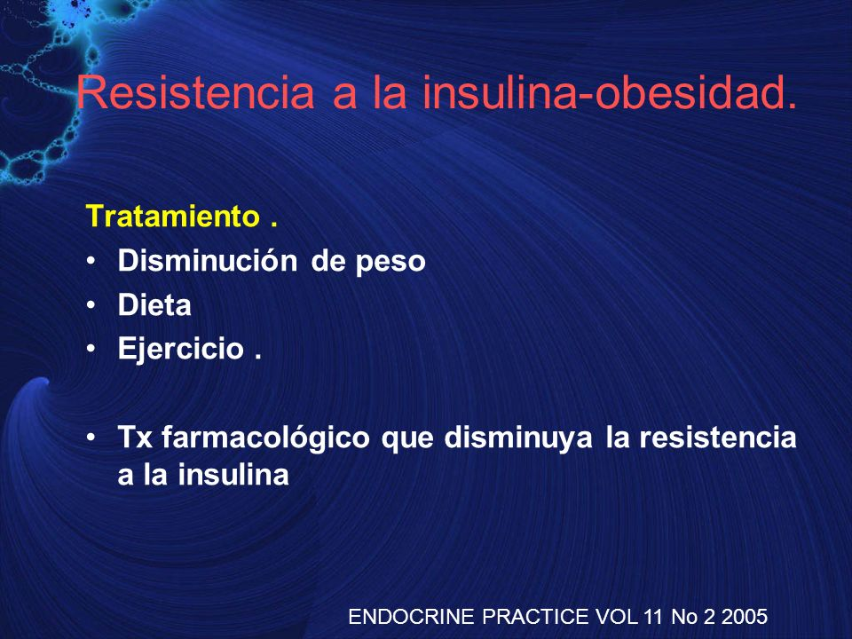 Resistencia a la insulina-obesidad.