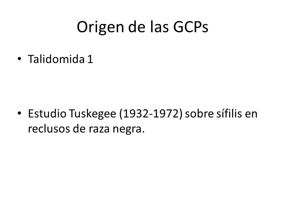 Origen de las GCPs Talidomida 1