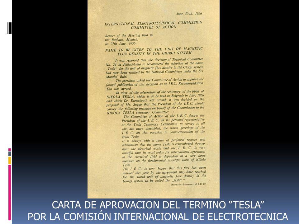 CARTA DE APROVACION DEL TERMINO TESLA