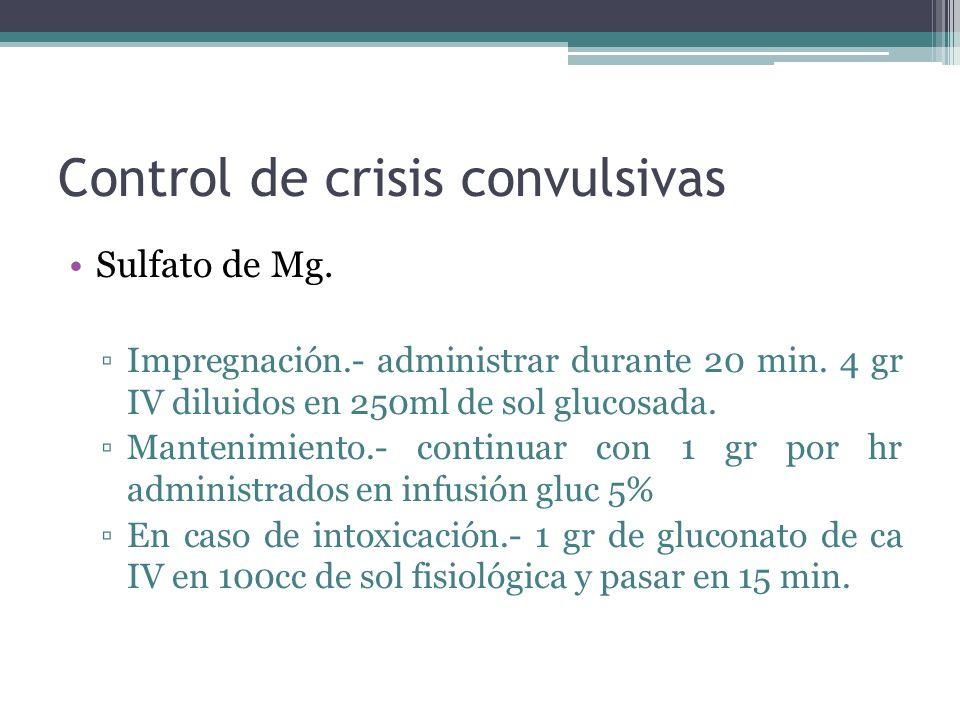Control de crisis convulsivas