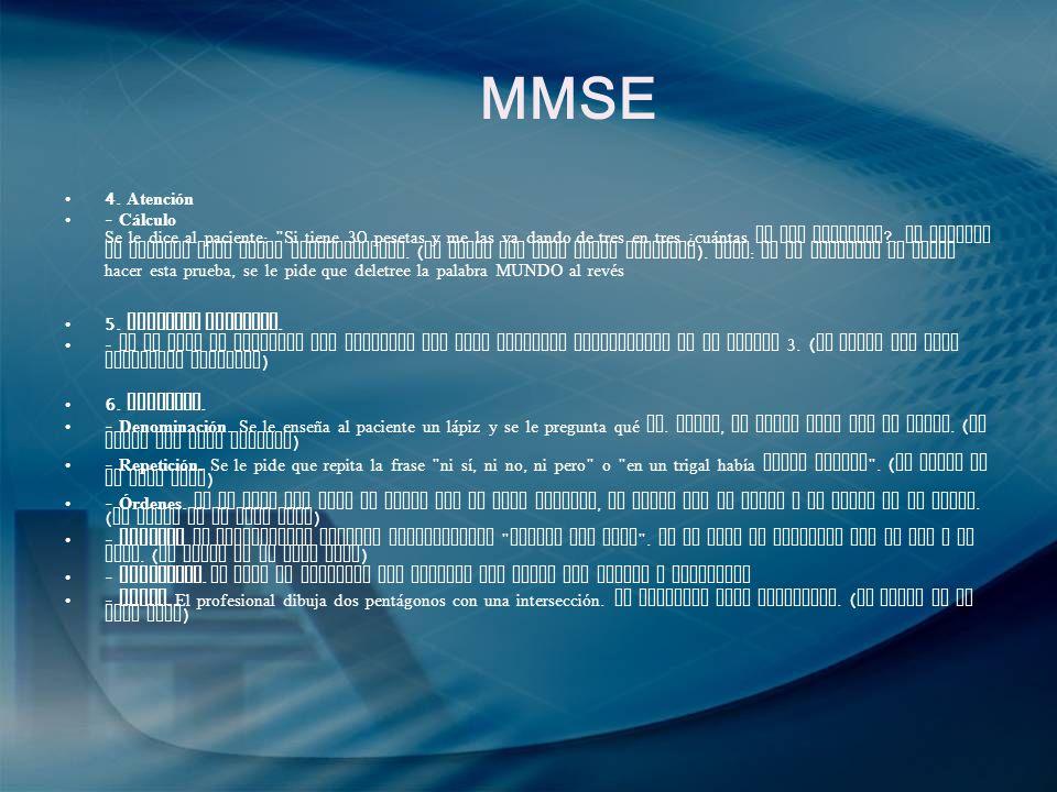MMSE 4. Atención.