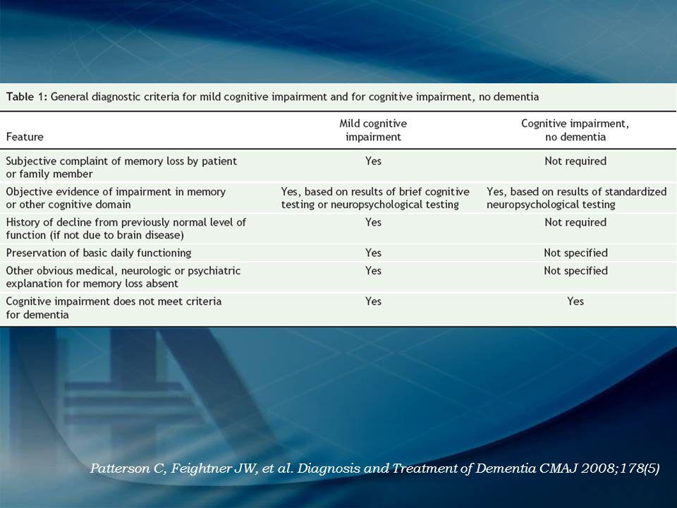 Patterson C, Feightner JW, et al