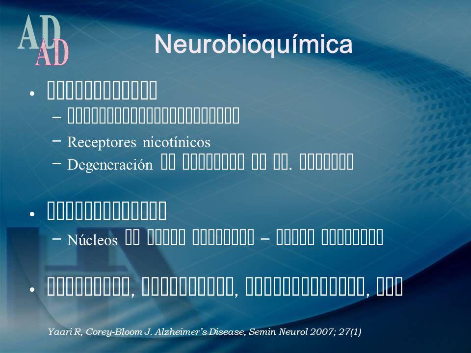 Neurobioquímica AD Acetilcolina Norepinefrina