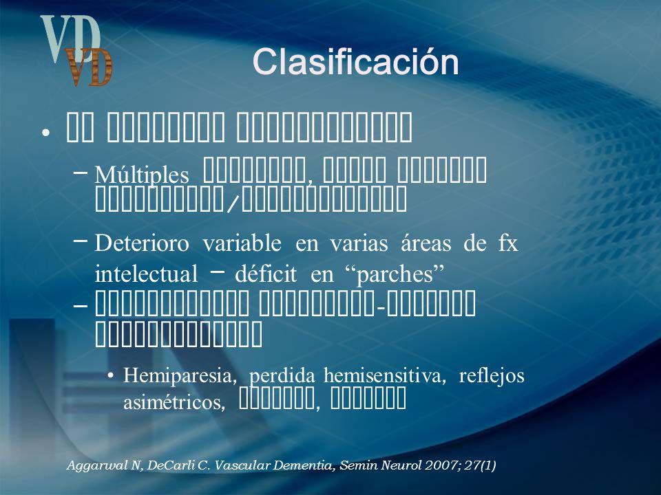Clasificación VD Sx Demencia Multiinfarto
