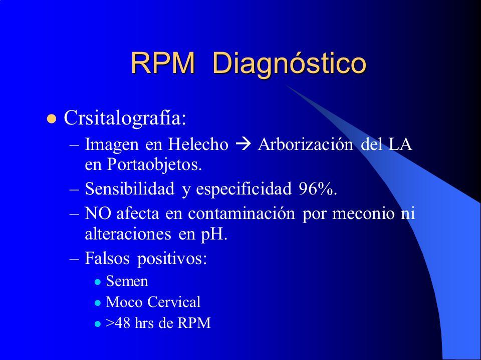 RPM Diagnóstico Crsitalografía:
