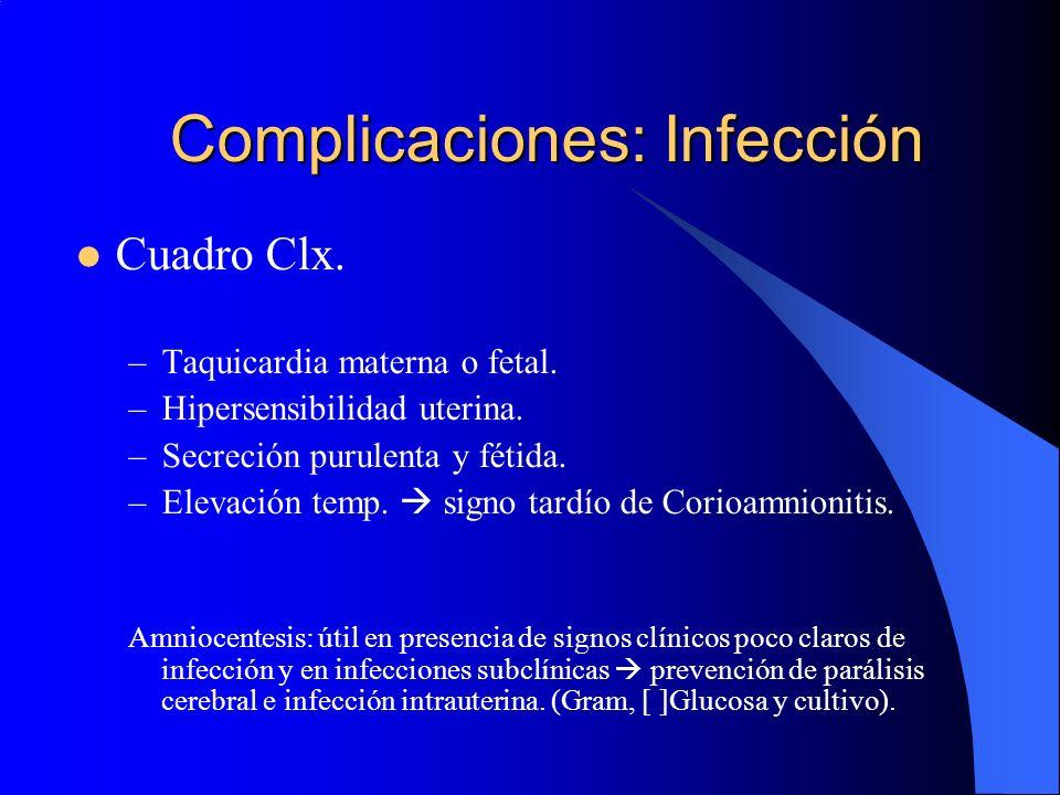 Complicaciones: Infección