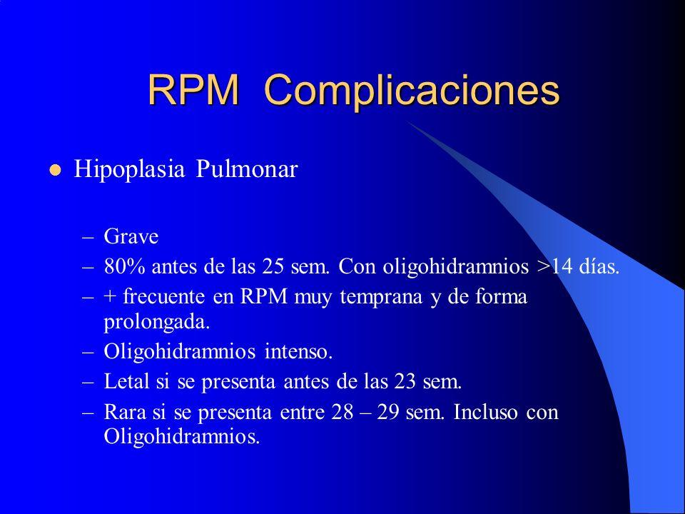 RPM Complicaciones Hipoplasia Pulmonar Grave