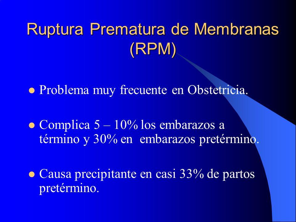 Ruptura Prematura de Membranas (RPM)