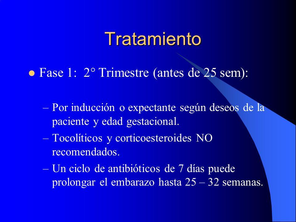Tratamiento Fase 1: 2° Trimestre (antes de 25 sem):