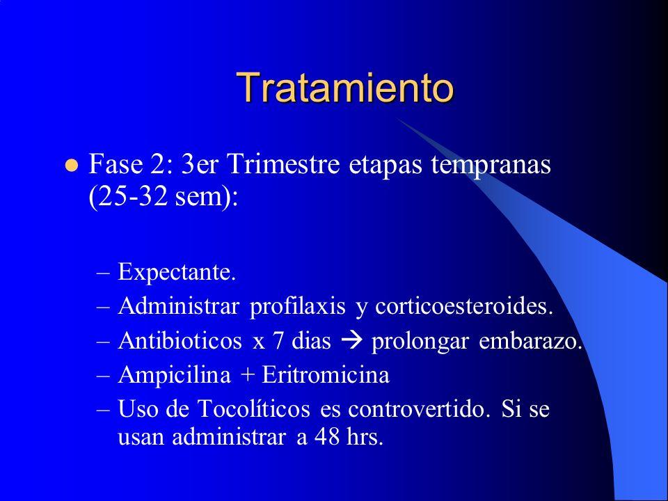 Tratamiento Fase 2: 3er Trimestre etapas tempranas (25-32 sem):