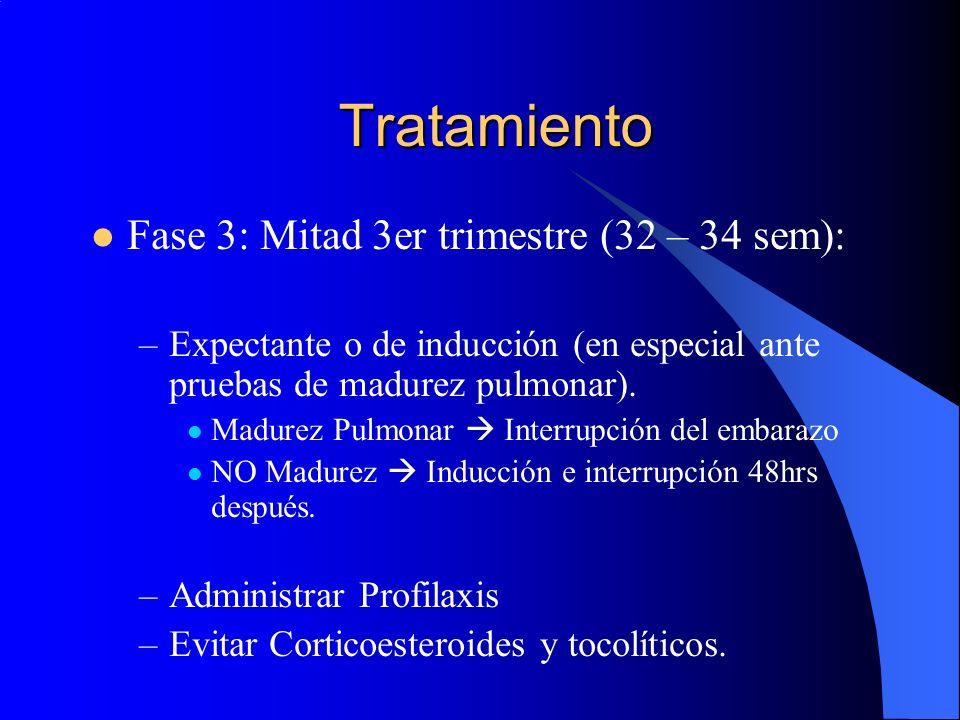 Tratamiento Fase 3: Mitad 3er trimestre (32 – 34 sem):