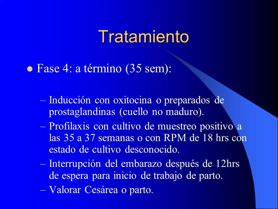 Tratamiento Fase 4: a término (35 sem):