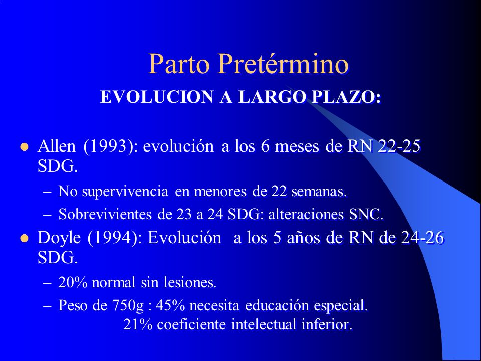 EVOLUCION A LARGO PLAZO: