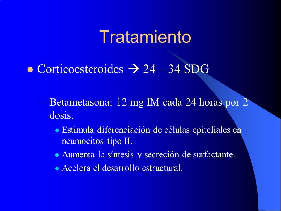 Tratamiento Corticoesteroides  24 – 34 SDG